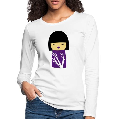 Motif Poupée Japonaise 1 - T-shirt manches longues Premium Femme