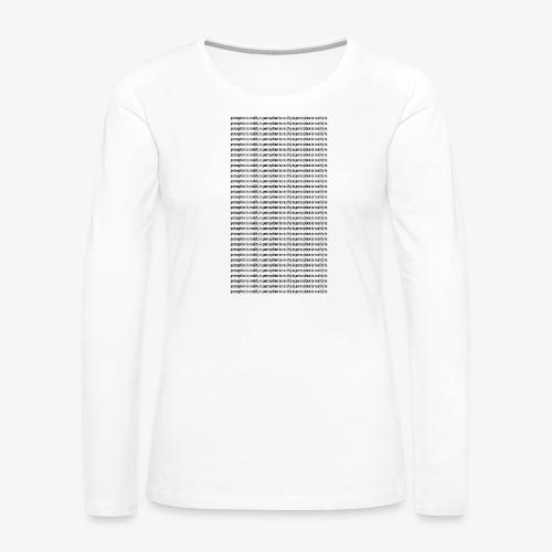 perception - Koszulka damska Premium z długim rękawem