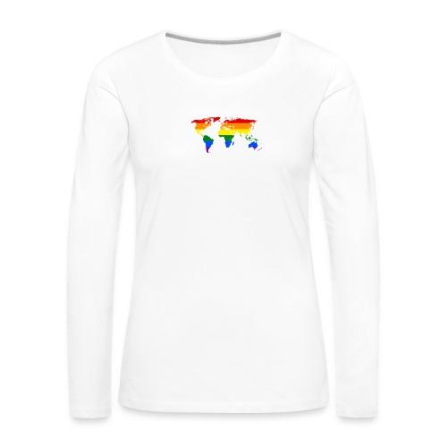 HBTQ WORLD - Långärmad premium-T-shirt dam