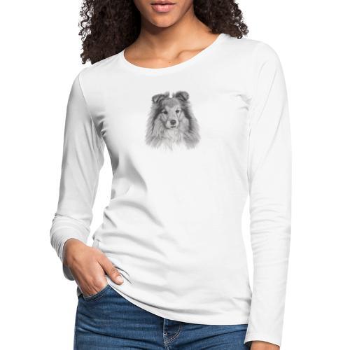 shetland sheepdog sheltie - Dame premium T-shirt med lange ærmer