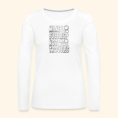 Bubbles002 - Vrouwen Premium shirt met lange mouwen