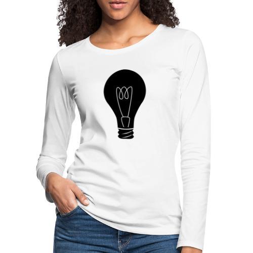 Glühbirne - Frauen Premium Langarmshirt