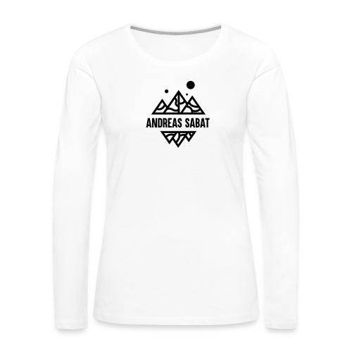 sabat logo black - Dame premium T-shirt med lange ærmer