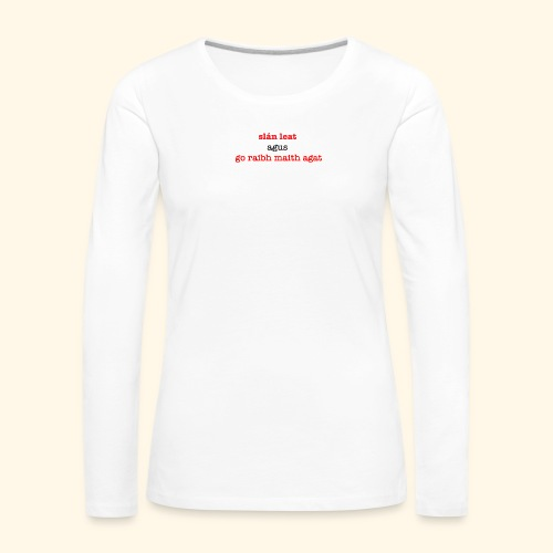 Good bye and thank you - Women's Premium Longsleeve Shirt