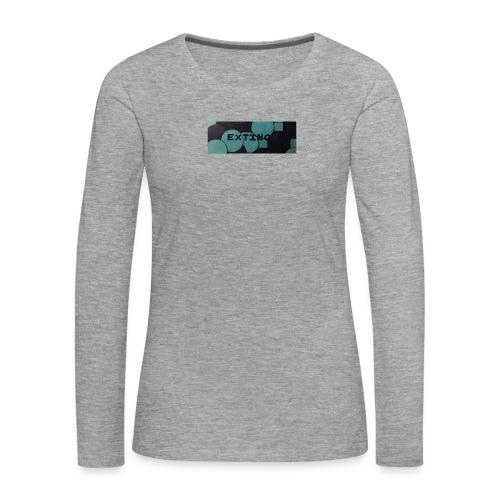 Extinct box logo - Women's Premium Longsleeve Shirt