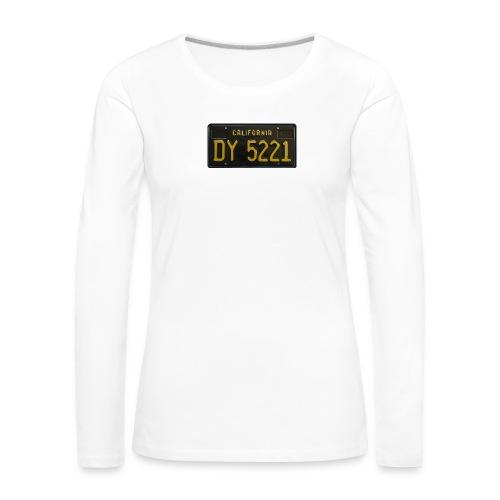 CALIFORNIA BLACK LICENCE PLATE - Women's Premium Longsleeve Shirt