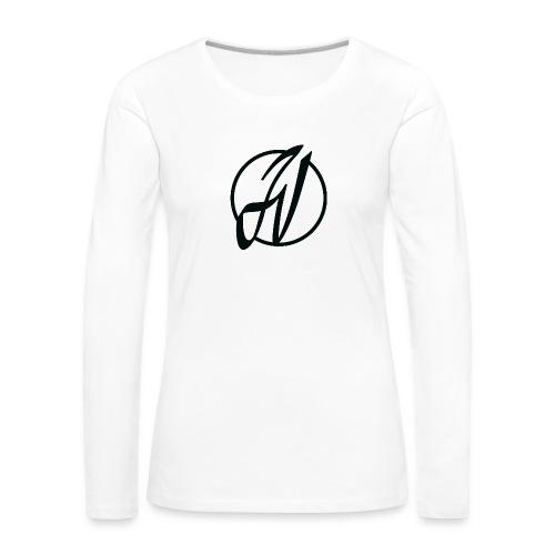 JV Guitars - logo noir - T-shirt manches longues Premium Femme