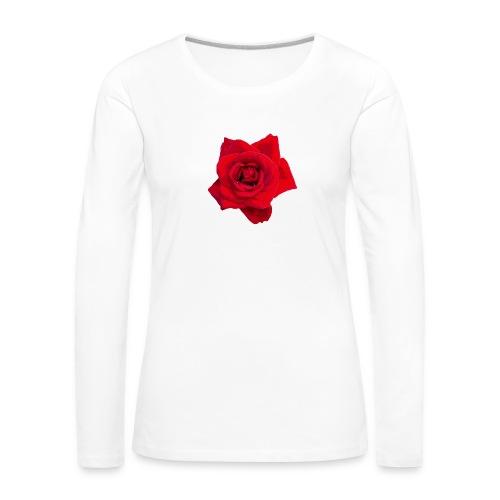 Red Roses - Koszulka damska Premium z długim rękawem