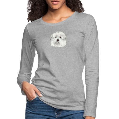 coton-de-tulear - Dame premium T-shirt med lange ærmer