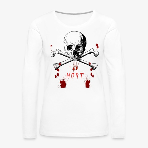 Mort design avec sang - T-shirt manches longues Premium Femme