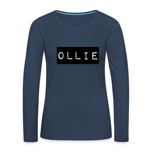 Design 2 - Dame premium T-shirt med lange ærmer