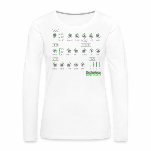 Synthesizer Drehregler Fader Electro EQ Clubbing - Frauen Premium Langarmshirt