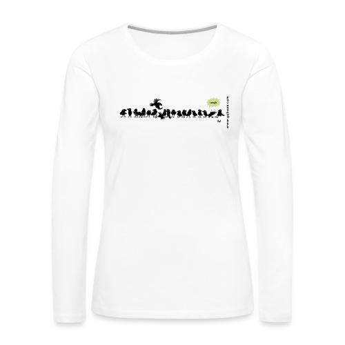 Corvids - det er en mengde! - Premium langermet T-skjorte for kvinner