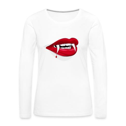 Vampire lips - Frauen Premium Langarmshirt