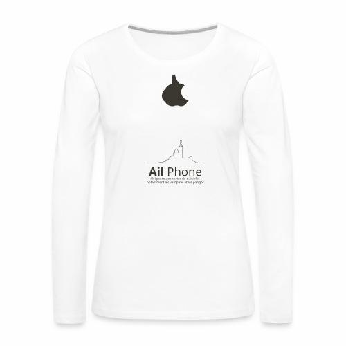 ailphoneok png - T-shirt manches longues Premium Femme
