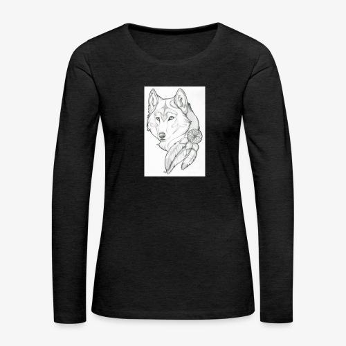 wolf - Vrouwen Premium shirt met lange mouwen