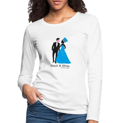 Black & White - Frauen Premium Langarmshirt