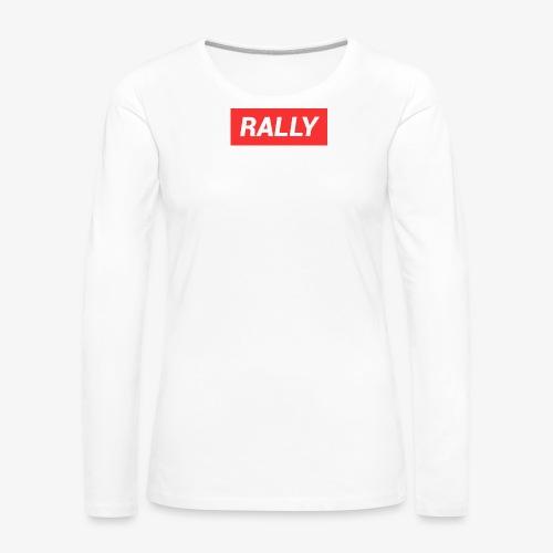 Rally classic red - Långärmad premium-T-shirt dam