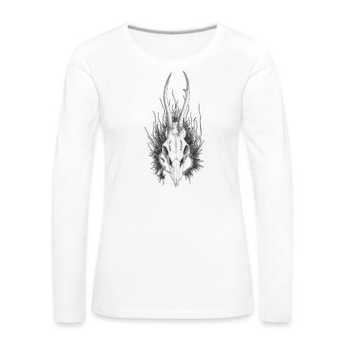 Schädelstruktur - Frauen Premium Langarmshirt