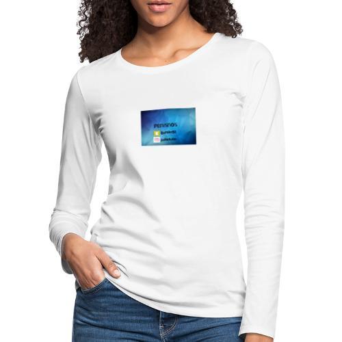 Penisnos merch med snap och ig - Långärmad premium-T-shirt dam