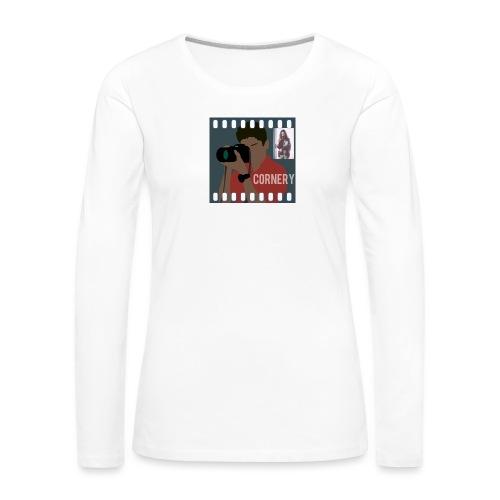 cornery - Maglietta Premium a manica lunga da donna