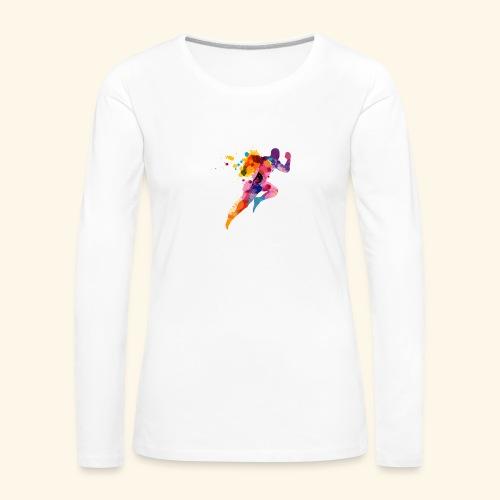 Running colores - Camiseta de manga larga premium mujer