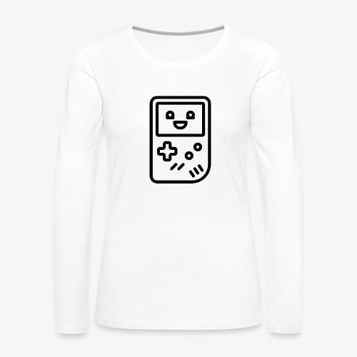 Smiling game console (black) - Women's Premium Longsleeve Shirt