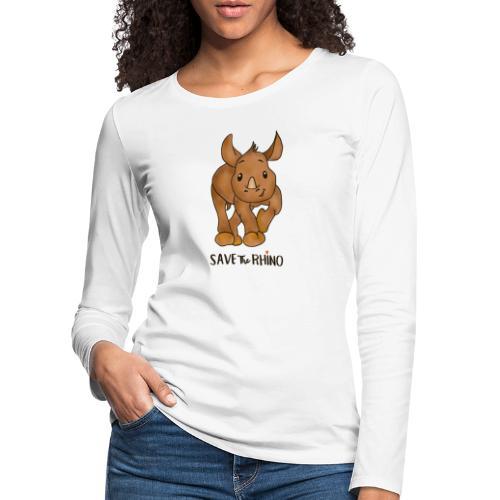 Save the Rhino - Women's Premium Longsleeve Shirt