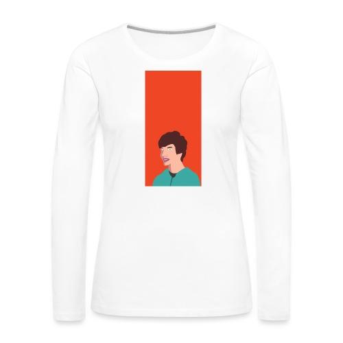 Aron Deksel v.2 6/6S - Premium langermet T-skjorte for kvinner