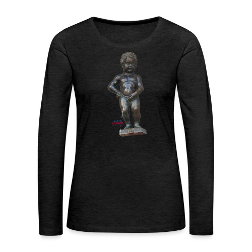 BiG REAL mannekenpis ♀♂   小便小僧 - T-shirt manches longues Premium Femme