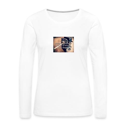 45492e8dfe105cfa0a4a7d1596676fb3 justgirlythings - Dame premium T-shirt med lange ærmer