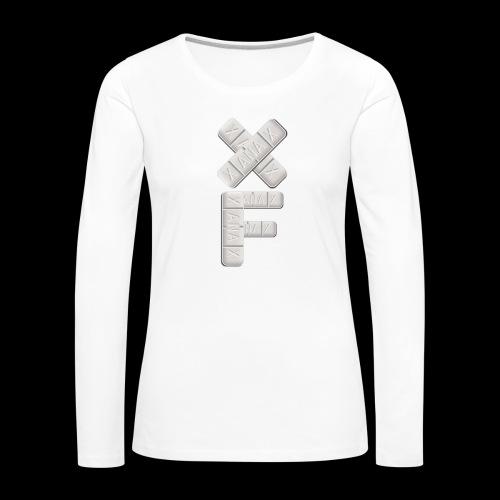 XF Xanax Logo - Frauen Premium Langarmshirt