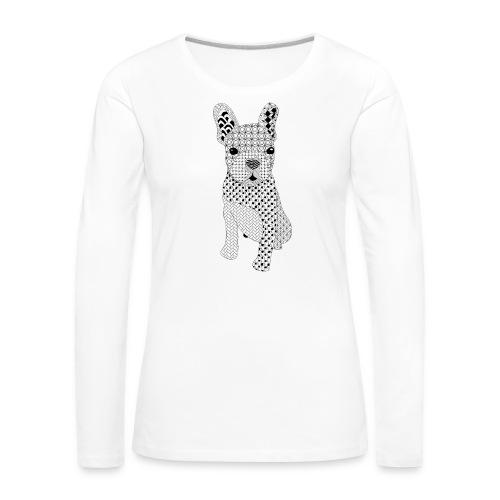 Bulldog puppy patroon - Vrouwen Premium shirt met lange mouwen