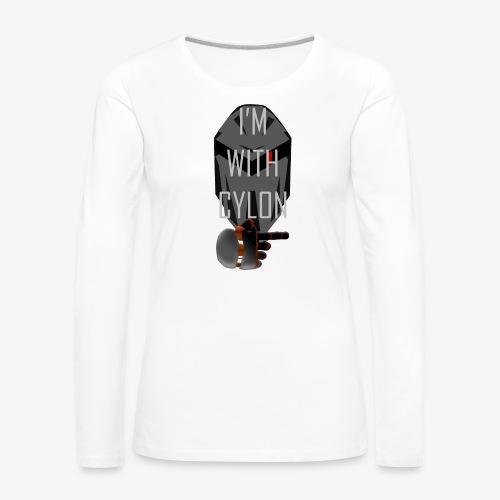 I'm with Cylon - Premium langermet T-skjorte for kvinner