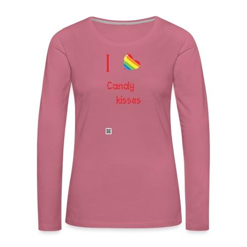 I love candy kisses - Naisten premium pitkähihainen t-paita