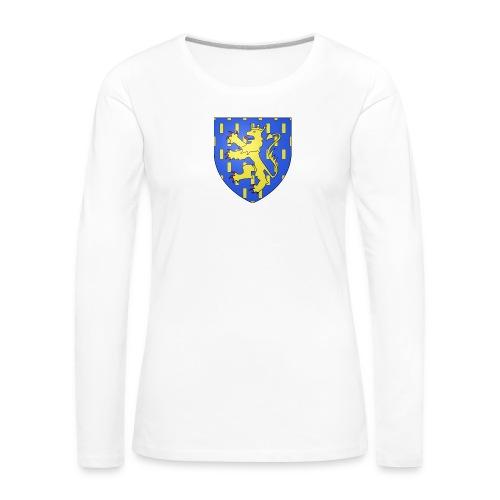 Blason de la Franche-Comté avec fond transparent - T-shirt manches longues Premium Femme