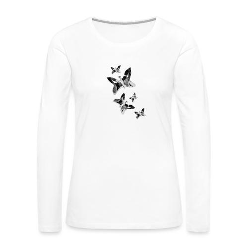 Schmetterlinge - Frauen Premium Langarmshirt