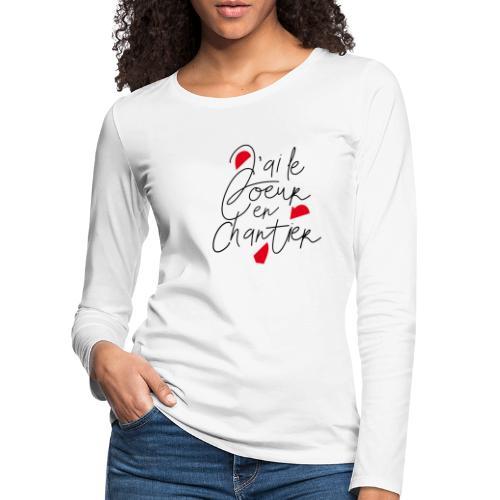 coeur en chantier - T-shirt manches longues Premium Femme