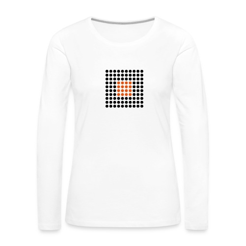Square Dots - Camiseta de manga larga premium mujer