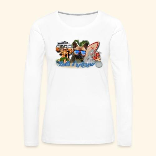 surf bouledogue - T-shirt manches longues Premium Femme
