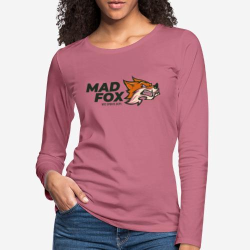 mad crazy fox - Frauen Premium Langarmshirt