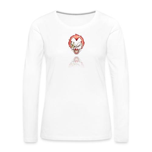 clown-png - Vrouwen Premium shirt met lange mouwen