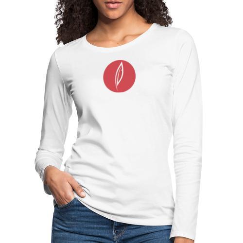 Logo - Rond rouge - T-shirt manches longues Premium Femme