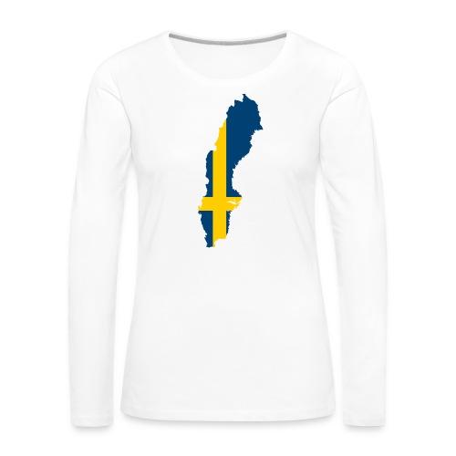 Sweden - Vrouwen Premium shirt met lange mouwen