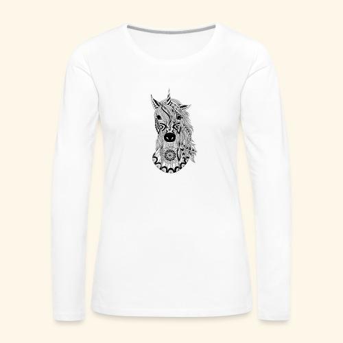 Unicornio - Camiseta de manga larga premium mujer