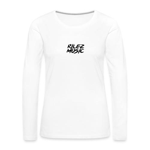 Camiseta de pico rilez - Camiseta de manga larga premium mujer