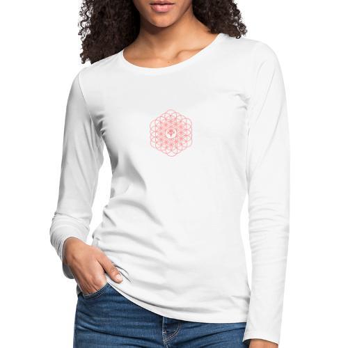 Blume des Lebens Pink - Frauen Premium Langarmshirt