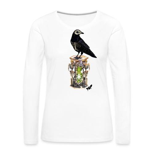 'Memento Mori' by BlackenedMoonArts - Dame premium T-shirt med lange ærmer