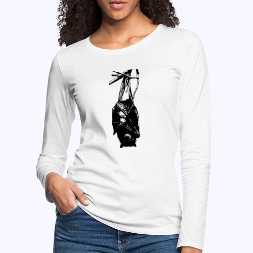 HangingBat schwarz - Frauen Premium Langarmshirt