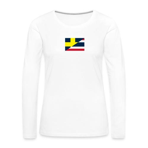 thailands flagga dddd png - Långärmad premium-T-shirt dam